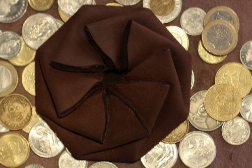 آموزش درست کردن کیف سکه چرمی با طرح اوریگامی