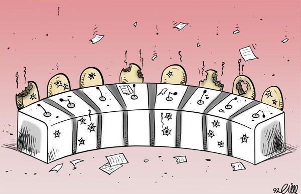 کاریکاتور مناظرات انتخاباتی