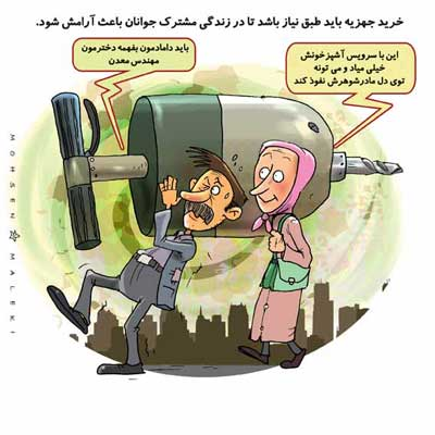 کاریکاتورهای دیدنی ، ازدواج و عواقب بعدیش