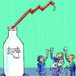 کاریکاتور ، افزایش قیمت شیر