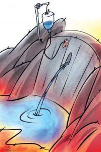 کاریکاتور بحران آب