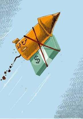 کاریکاتورهای خنده دار، افزایش قیمت دلار