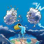کاریکاتور بارش باران