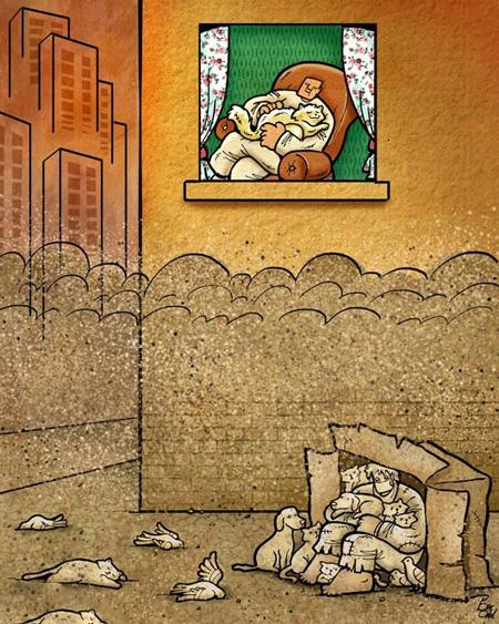 کاریکاتورهای ، خنده دار مفهومی (۱)