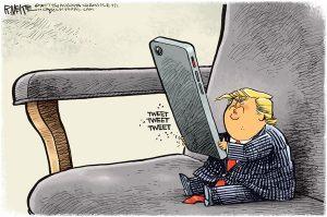 کاریکاتور رئیس جمهور توئیترباز