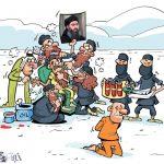 کاریکاتور داعش در حال بزک کردن رهبر جدید!