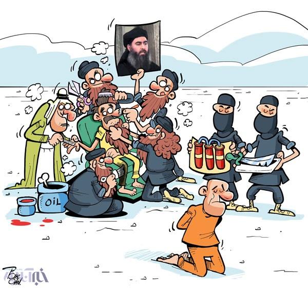 کاریکاتور بزک کردن رهبر جدید داعش