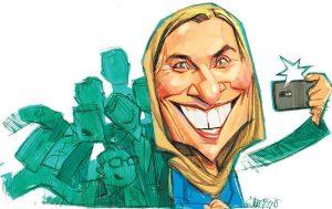 کاریکاتور موگرینی و نمایندههای عشق سلفی در افق زاویه!