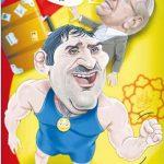 کاریکاتور عباس جدیدی، قالیباف را ضربهفنی کرد!
