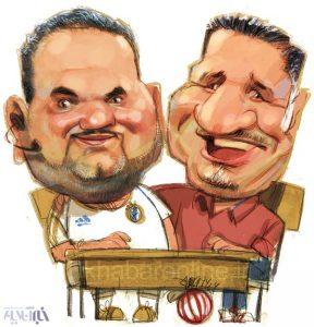 کاریکاتور علی دایی و جواد خیابانی سر کلاس!