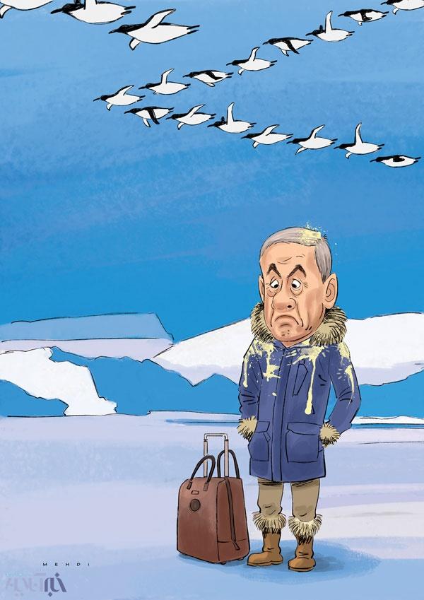 کاریکاتور پنگوئنها و نتانیاهو