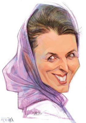 کاریکاتور ستاره جهانی سینمای ایران