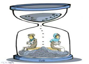 کاریکاتور رکورد جدید در طلاق ایرانیها!