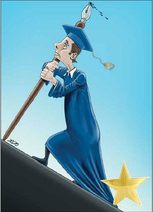کاریکاتور دانشجوی ستارهدار