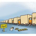 کاریکاتور قاچاق کالا از مبادی رسمی کشور