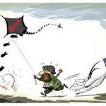کاریکاتور چه کسی به تروریستهای سوریه کمک میکند؟