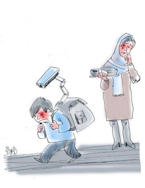 کاریکاتور محافظت از کودک