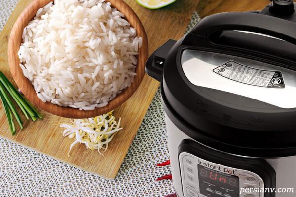 روش پخت برنج با زودپز
