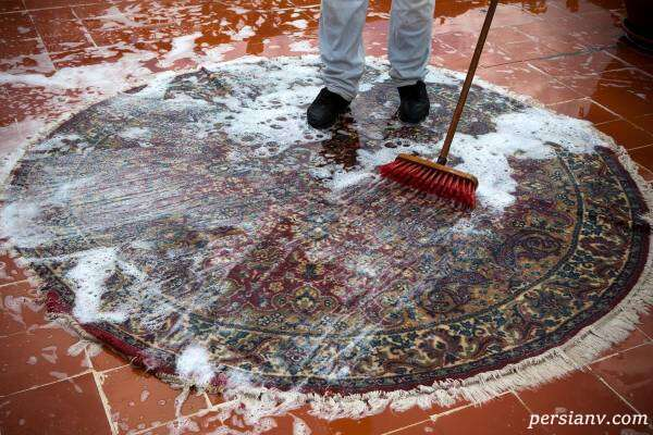 شستن فرش ماشینی در خانه