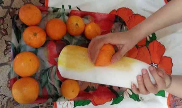 رفع تلخی شربت پرتقال