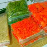 نگهداری هویج و لوبیا سبز