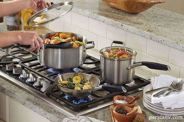 بهترین ظروف برای پخت , ظروف استیل و پیرکس