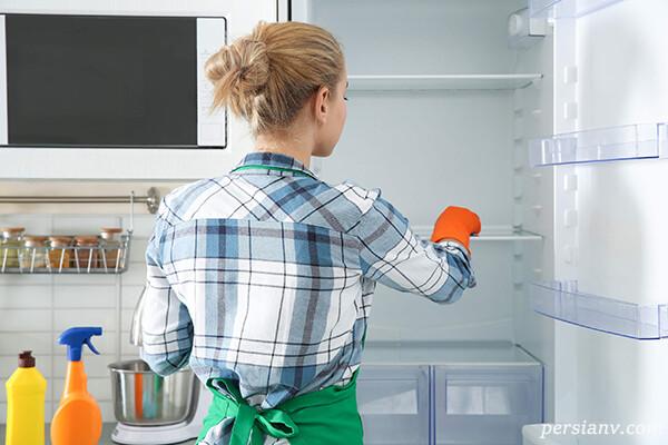 ۱۵ راه فوری برای تمیز کردن یخچال و فریزر