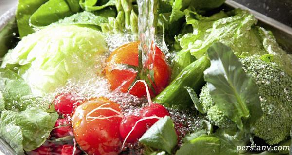 شست و شوی صحیح سبزیجات