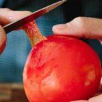 نحوه آسان پوست کندن گوجه فرنگی