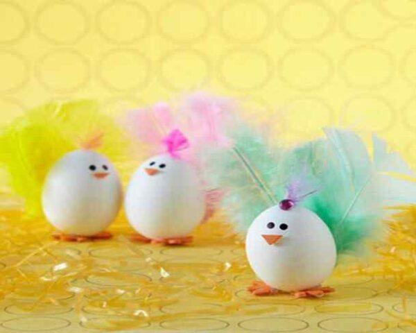 تزیین تخم مرغ بدون رنگ