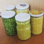 کنسرو کردن نخود فرنگی و سبزیجات در منزل