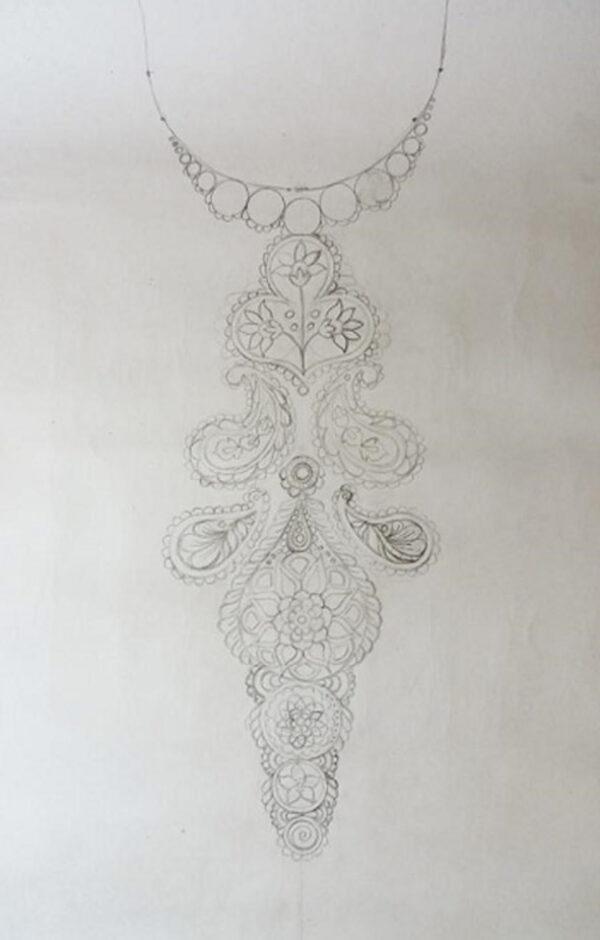 نقاشی نقطه ای روی لباس