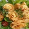 آموزش تصویری: تزیین سیب زمینی به شکل گل رز