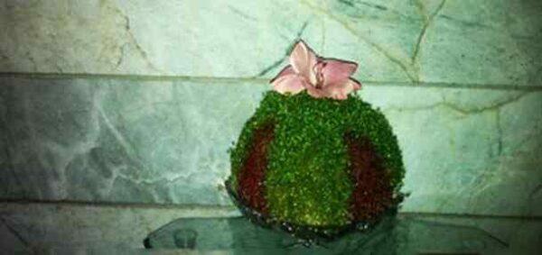 آموزش درست کردن سبزه ی عید دو رنگ