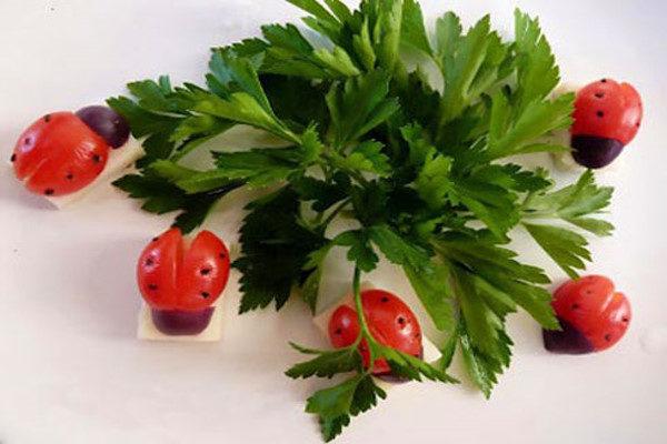 تزیین سبزی خوردن برای سفره افطار ماه رمضان