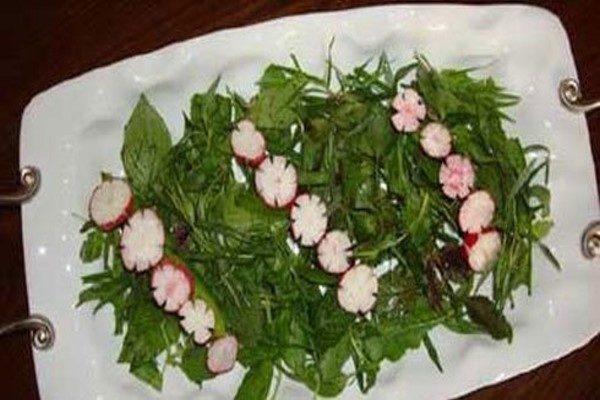 تزیین سبزی خوردن برای سفره افطار