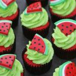 تزیین هندوانه به شکل کاپ کیک برای شب یلدا