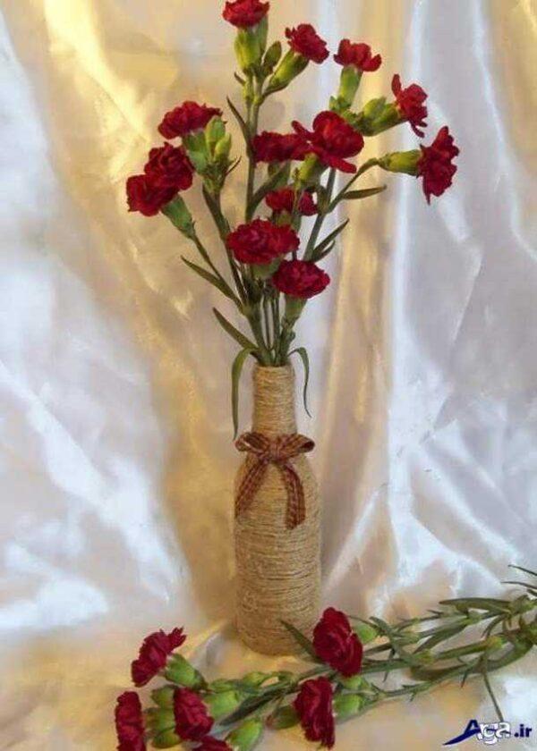 آموزش ساخت گلدان بسيار زيبا با قاشق يكبار مصرف