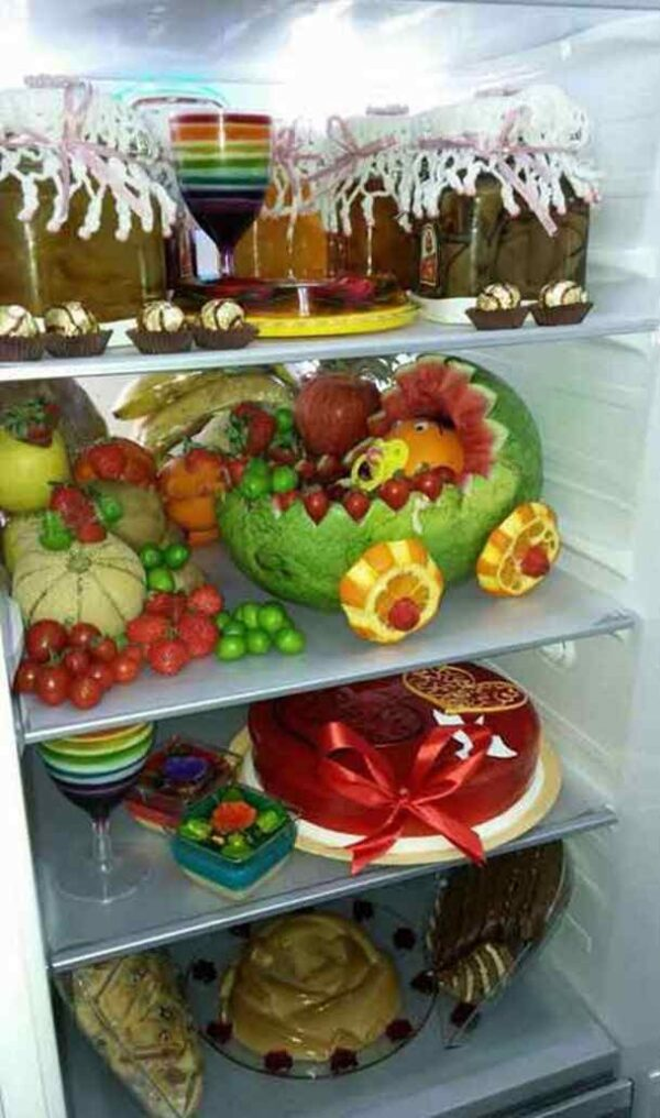 تزیین لوازم یخچال عروس