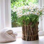 تزیین گلدان با شاخه های درخت