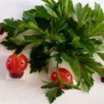تزیین گوجه فرنگی به شکل کفشدوزک+تصاویر