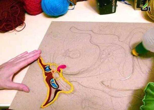 ساخت تابلو با کاموا