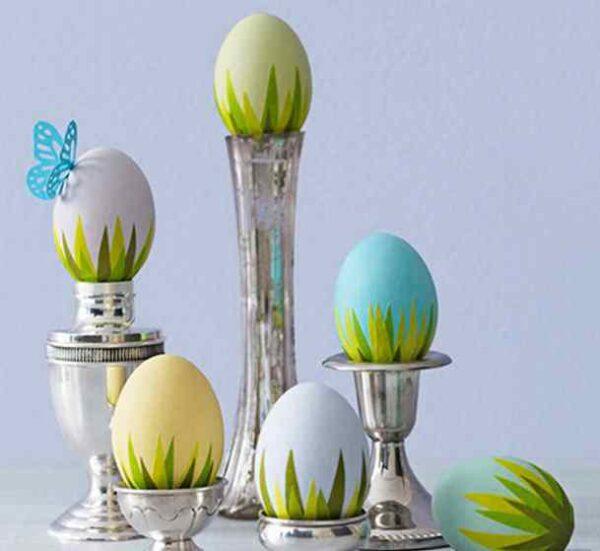 تزیین تخم مرغ با کاغذ و پارچه