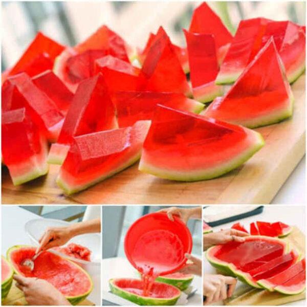 تزیین ژله در پوست میوه
