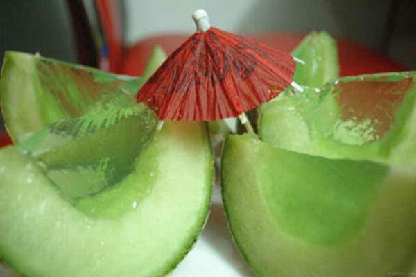 تزیین ژله در پوست میوه برای مهمانی ها