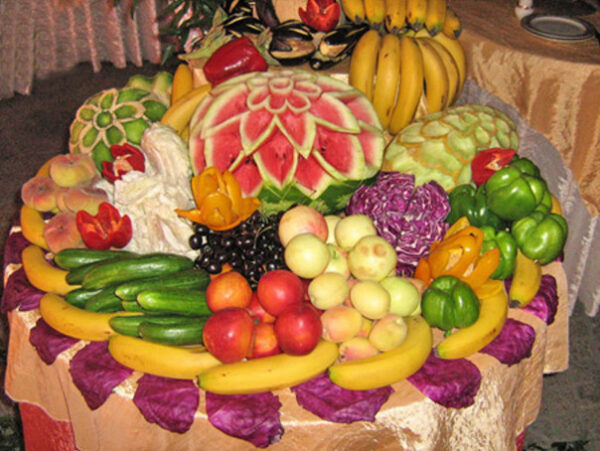 مدل تزیین میوه روی میز