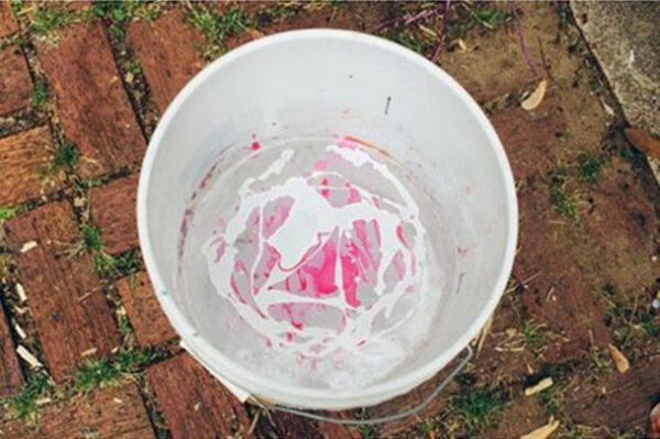 تزیین گلدان با لاک ناخن