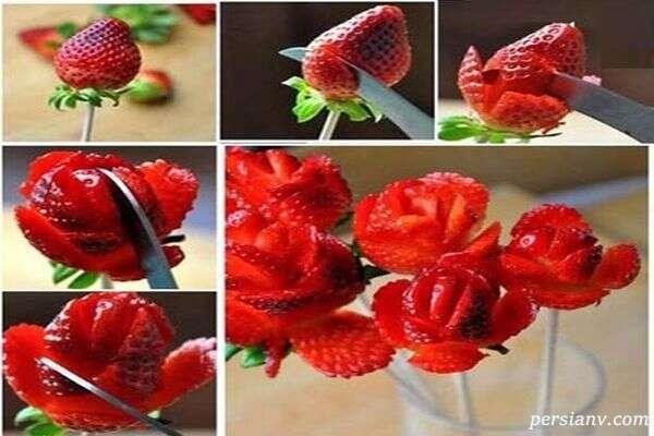 ایده های جالب برای تزیین توت فرنگی