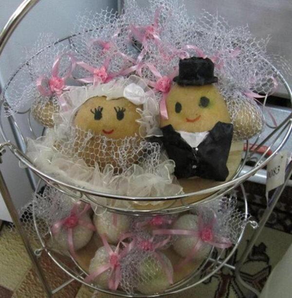 تزیین سیب زمینی پیاز عروس