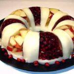 تزیین ژله با میوه تازه